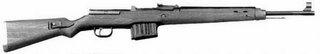 Gewehr 43, desenho Walther. Tentativa alemã de um fuzil semi-automático.