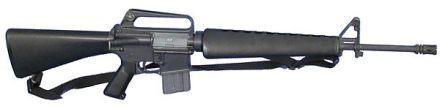 Colt M16A1 5.56 (1967) Qualquer um pode notar que não passa de um AR15 com outro nome.