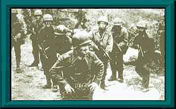 Em primeiro plano o 2° Sgt Max Wolff Filho, de Rio Negro, PR, morto em combate no dia 12 de abril de 1945, quando comandava uma patrulha de exploração na região de Biscaia, Itália.
